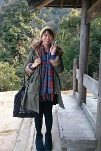 台湾から一人で来たという女性と、片言の北京語で話した