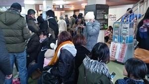 ロープウェイ獅子岩駅は大混雑で、くだりは1時間待ち!